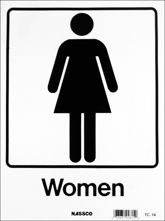 Female restroom sign clipartsco for Women only bathroom sign