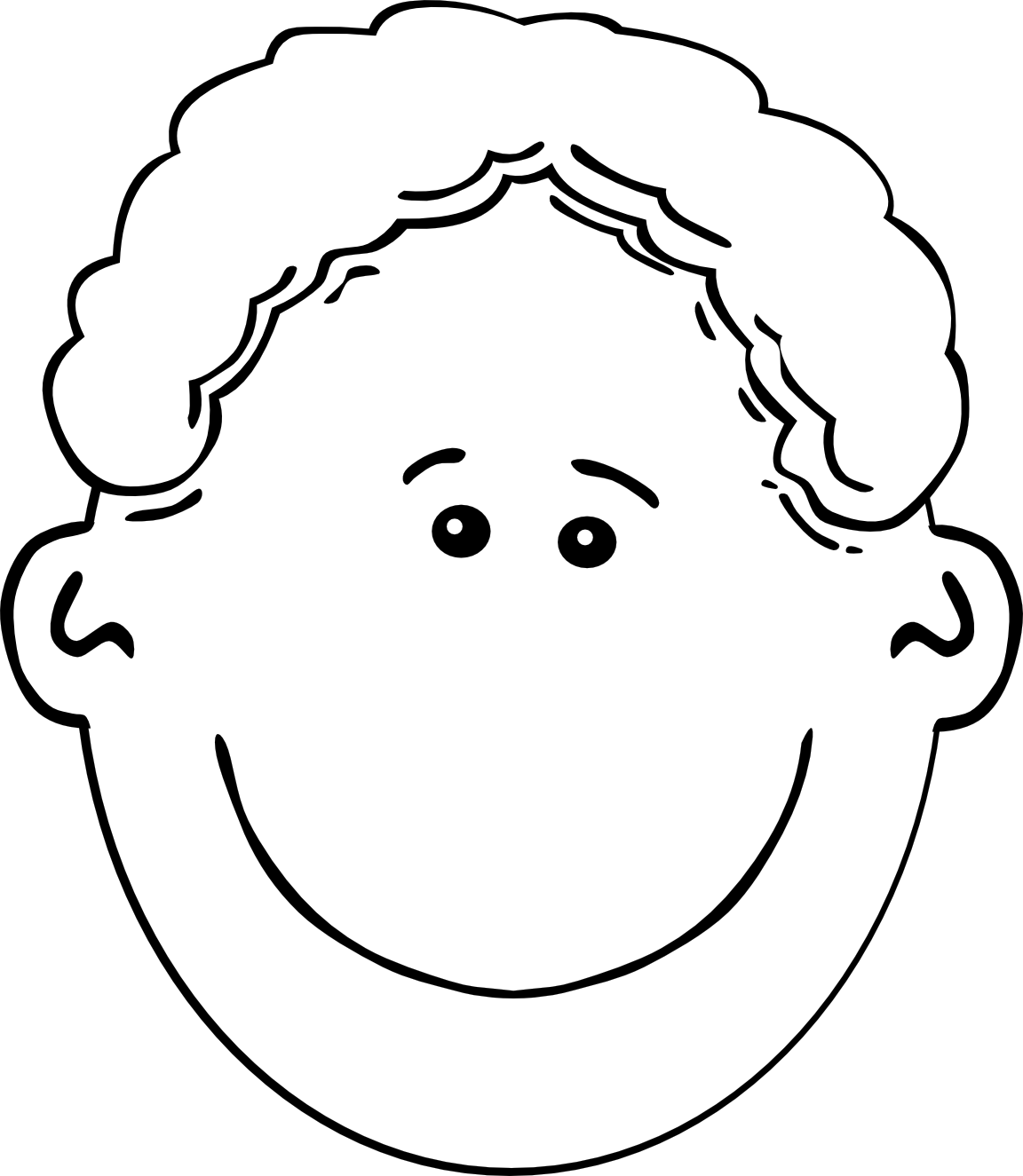 Line Drawing Of Child S Face : Cartoon boy face cliparts