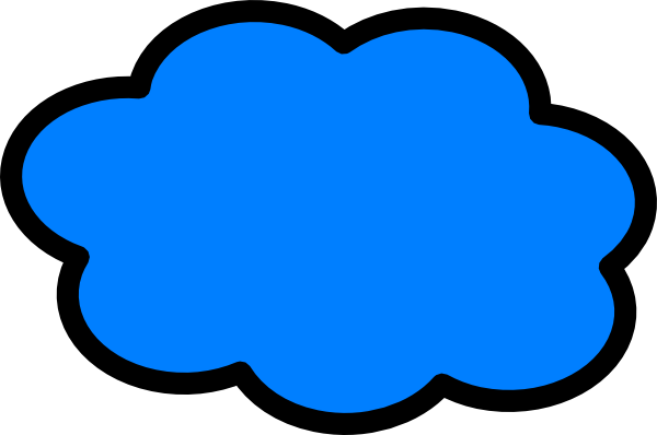 Blue Cloud Outline Clip Art Png