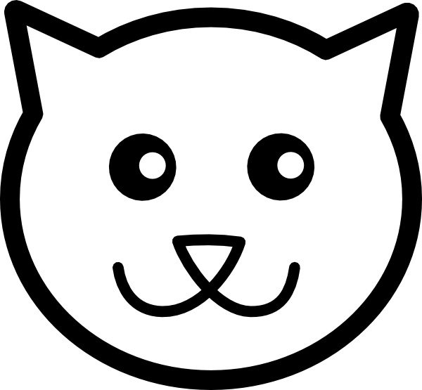 Outline Of Cat Face - ClipArt Best