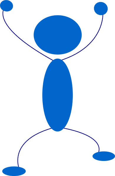 Blue Man clip art Free Vector / 4Vector