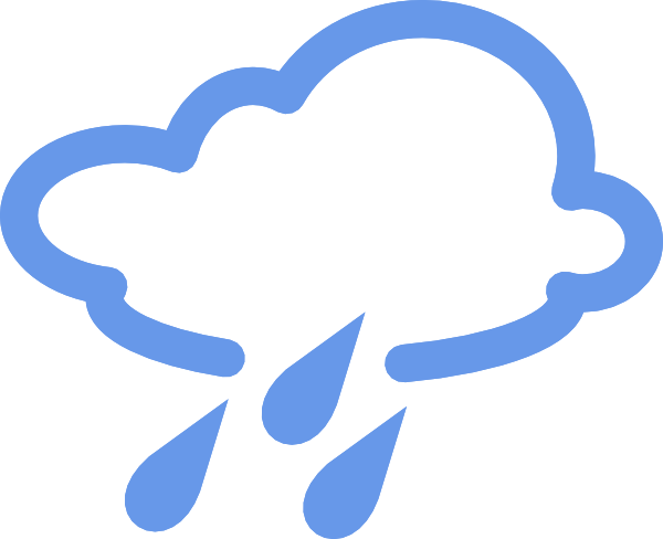 Rainy Weather Symbols clip art - vector clip art online, royalty ...