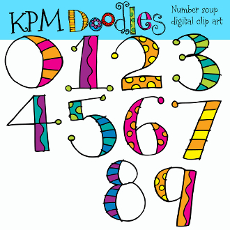 Number Soup Digital Clip Art