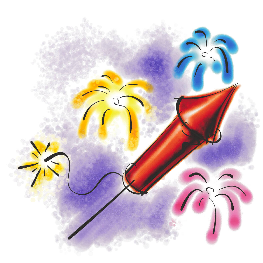 Cartoon Fireworks Clip Art - Cliparts.co