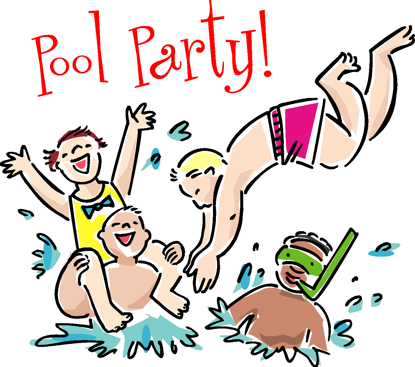 Images For Swimming Pool Party Cartoon
