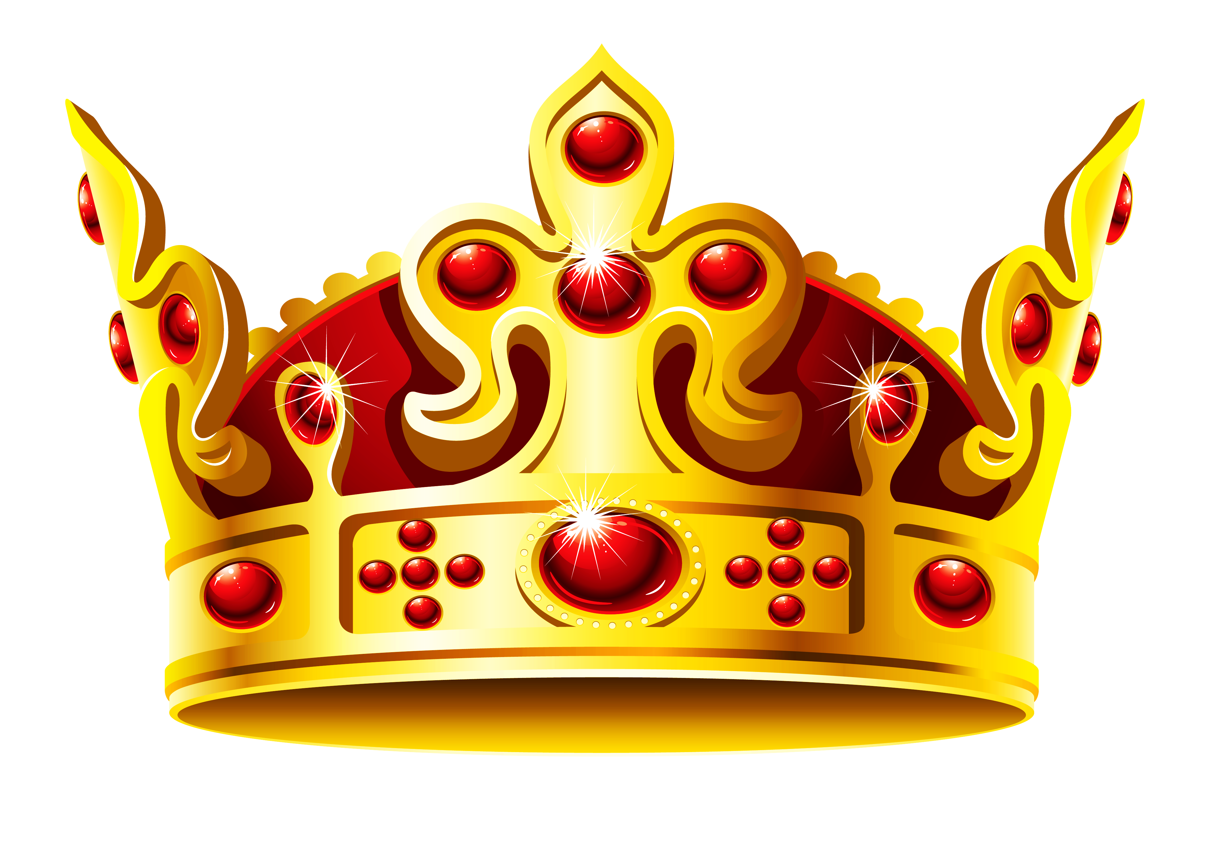 Gold and Red Crown PNG Clipart Picture