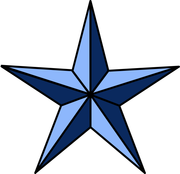 Wla Nautical Star clip art - vector clip art online, royalty free ...