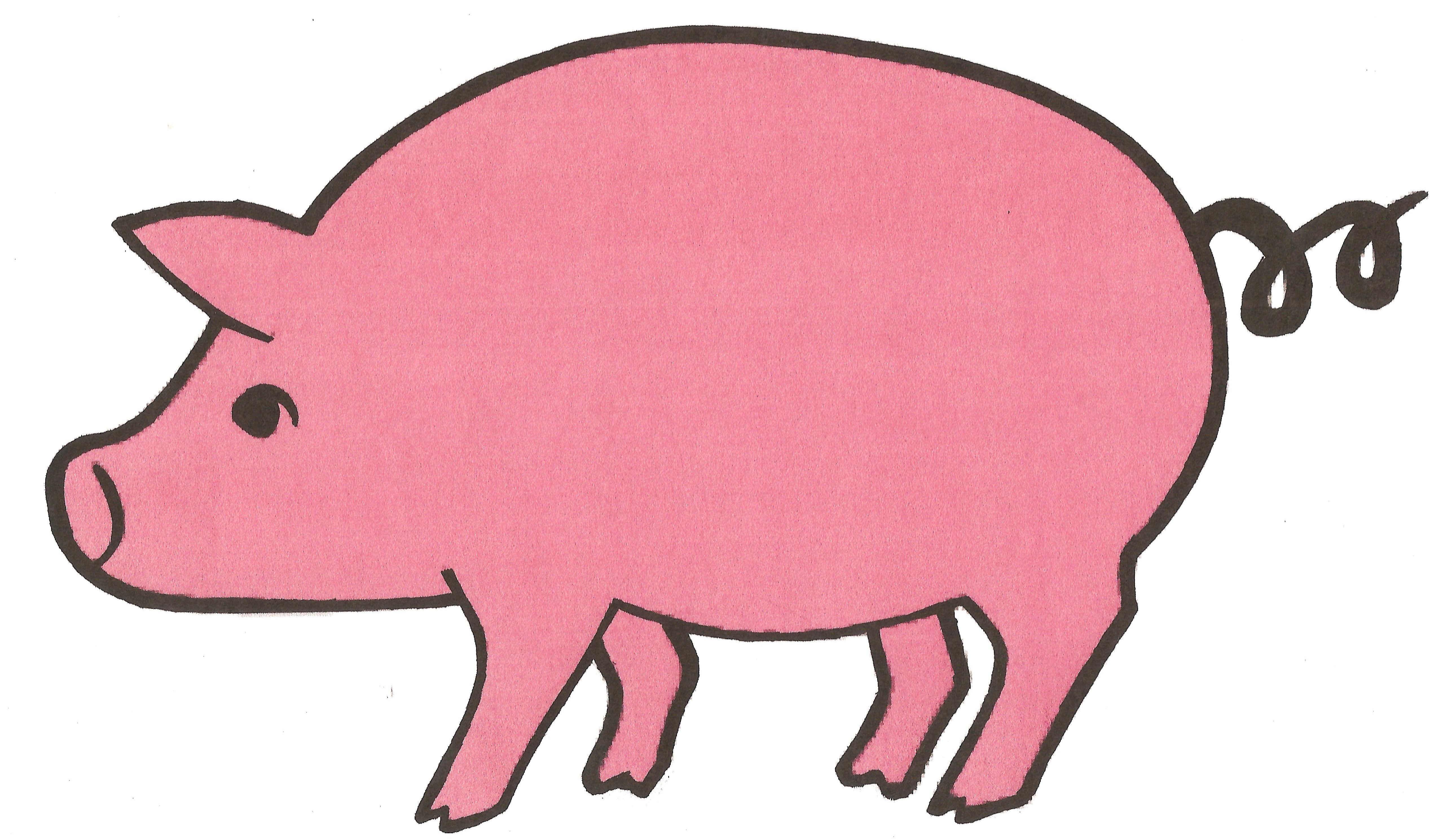 free clip art pink pig - photo #25