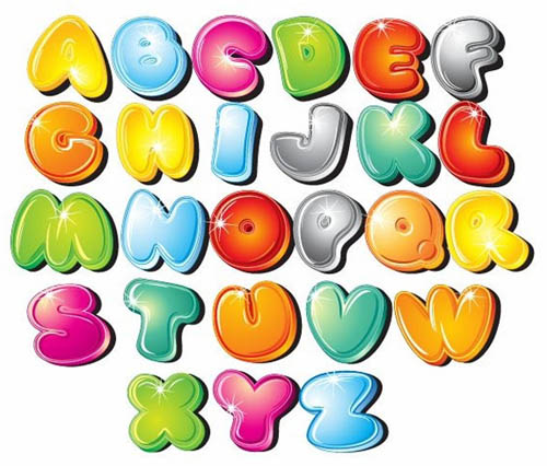 Multi Colored Letters In Word