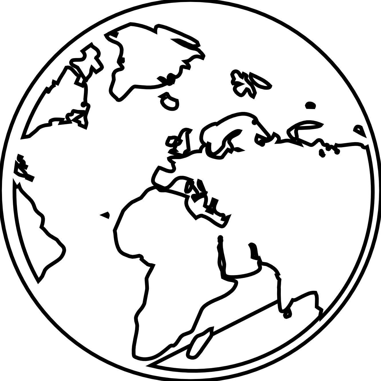 Line Drawing Earth : Rg earth globe black white line art tattoo