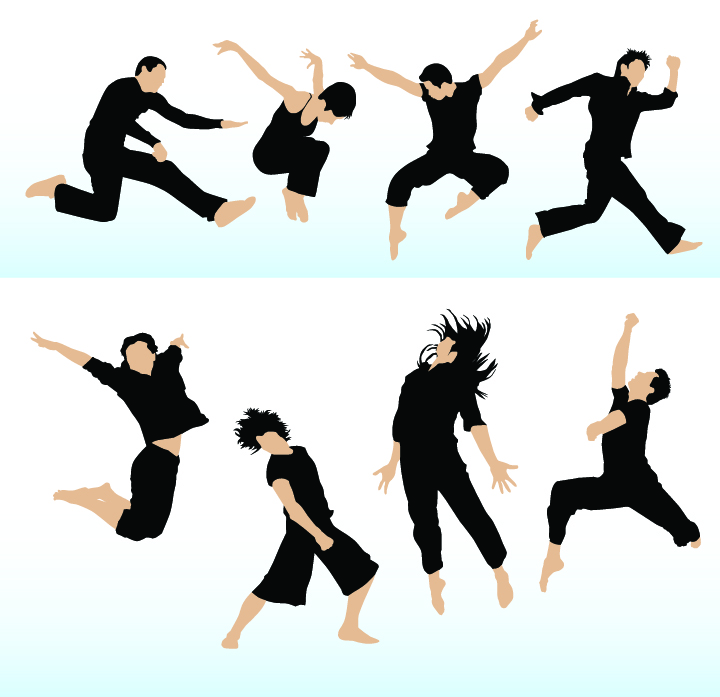 Dancing people vector Free Vector / 4Vector
