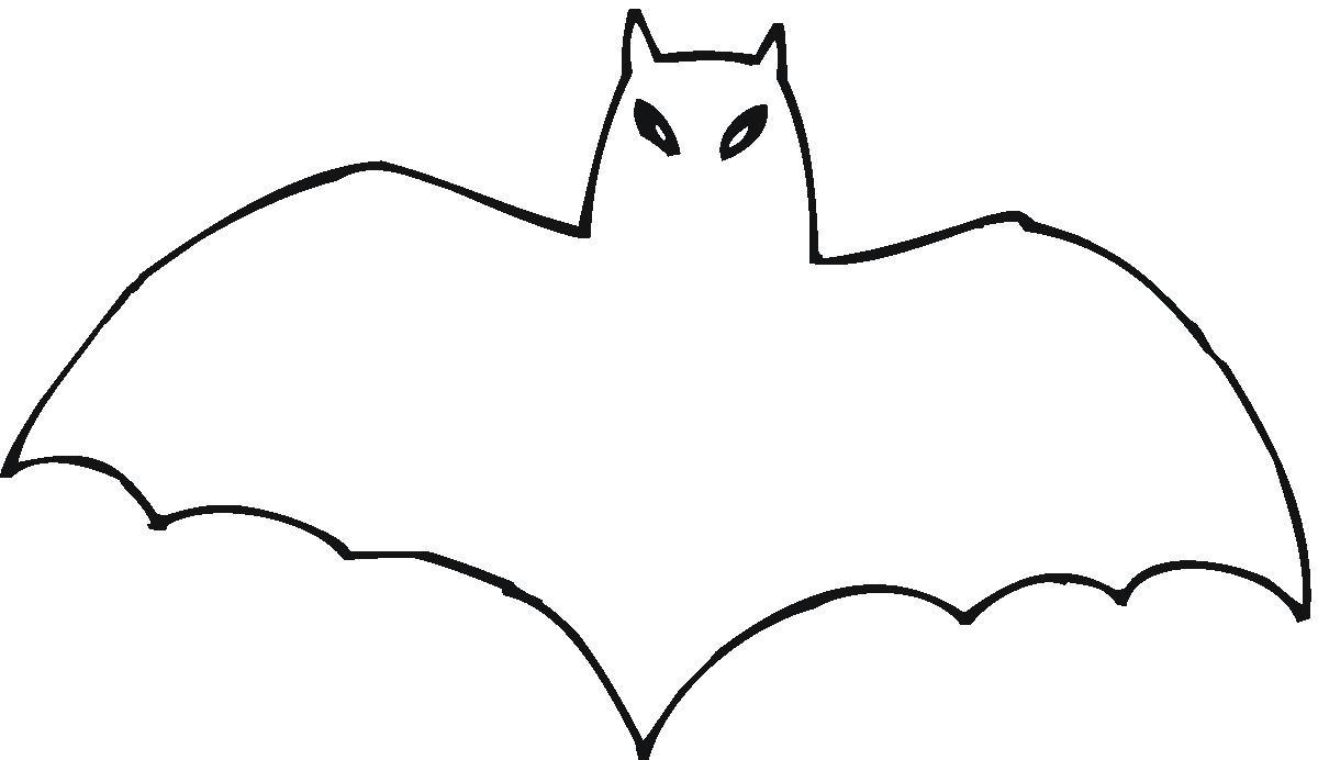 Bat Outline Clip Art
