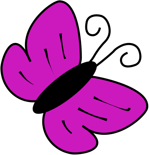 Butterfly Flying Outline Clipart | Clipart Panda - Free Clipart Images