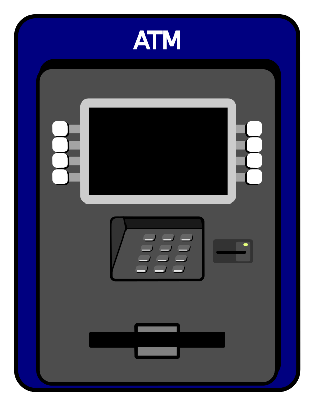 Free Simple ATM Machine Clip Art - Cliparts.co: cliparts.co/clipart/502812
