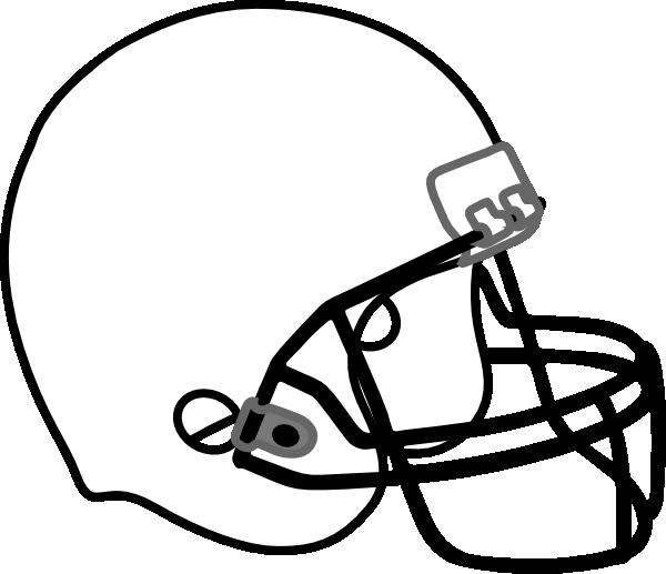 Football Helmet White Black clip art - vector clip art online ...