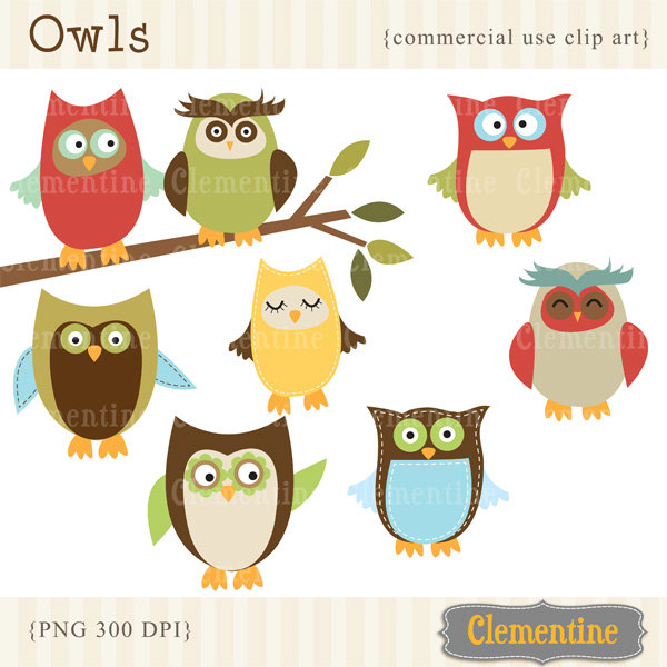 Popular items for owl clip art on Etsy