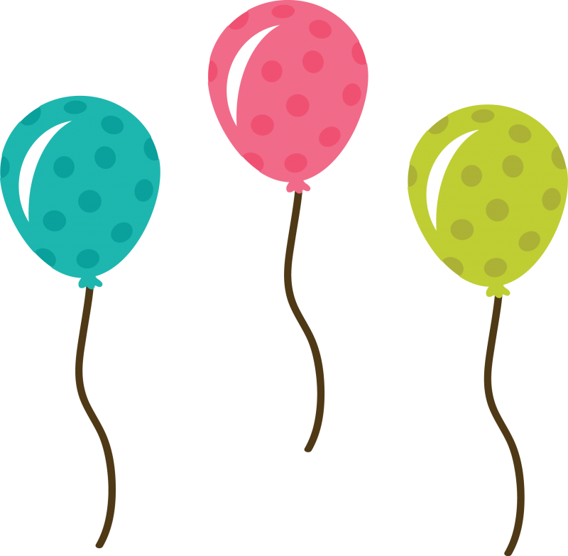 Polka Dot Balloons SVG file balloon svg file cute balloons clipart