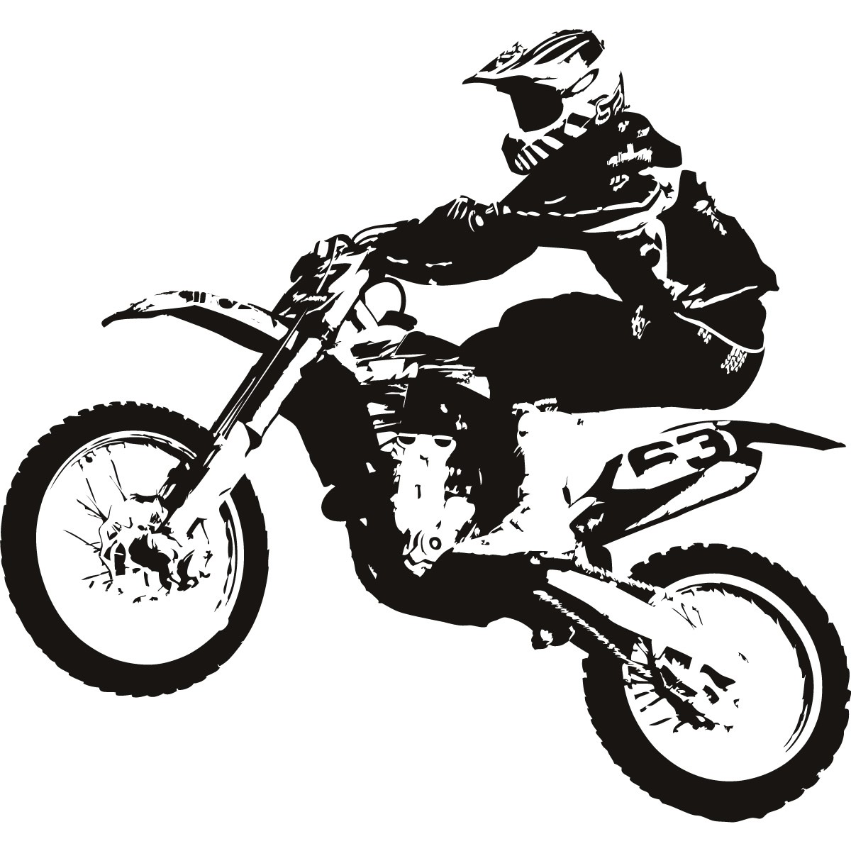 Dirt Bike Clipart Black And White Dirt Bike Clipart Black And