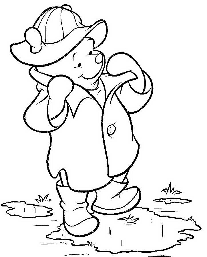 Disney Cartoon Winnie The Pooh Wear Jacket Coloring ...