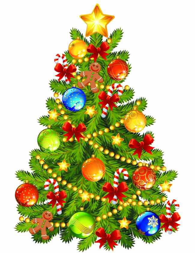 christmas tree decoration cartoon - photo #42