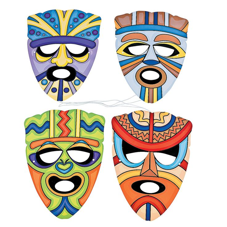 Tiki Mask Template Cliparts Co
