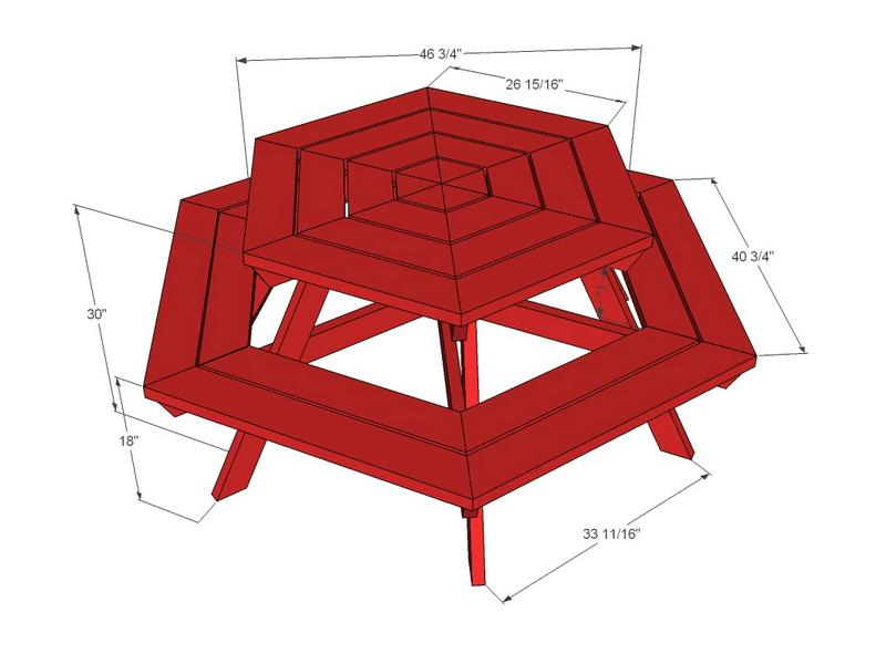 Hexagon Picnic Table Plans: Round Hexagon Picnic Table Plans ...