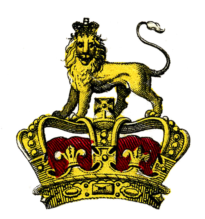 Antique Heraldry Image - Crown - Lion - Armour - The Graphics Fairy