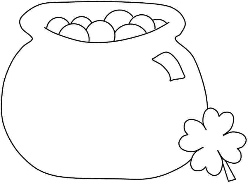 st patrick\'s day pot of gold coloring pages | Pictures Of A Pot Of Gold - Cliparts.co