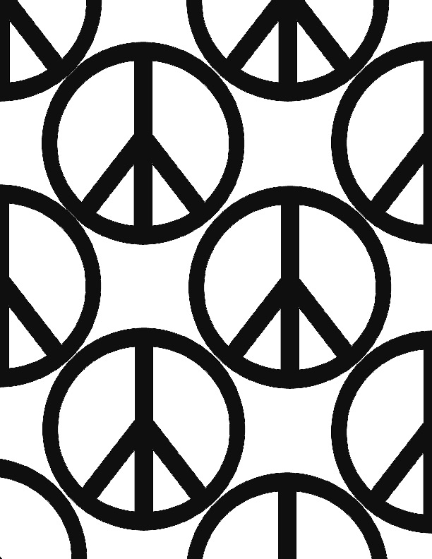 Peace Sign Pumpkin Stencil