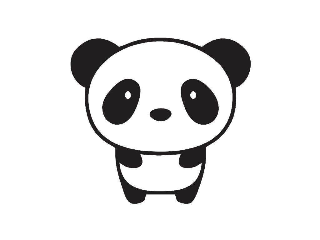 simple panda clipart - photo #22