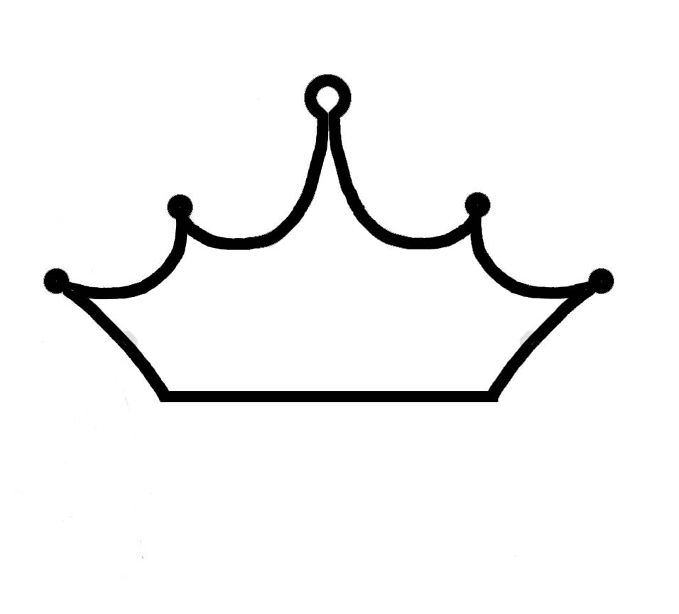 Line Drawing Crown : Black and white crown cliparts