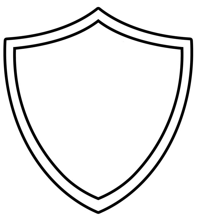 Police badge outline for Blank shield template printable