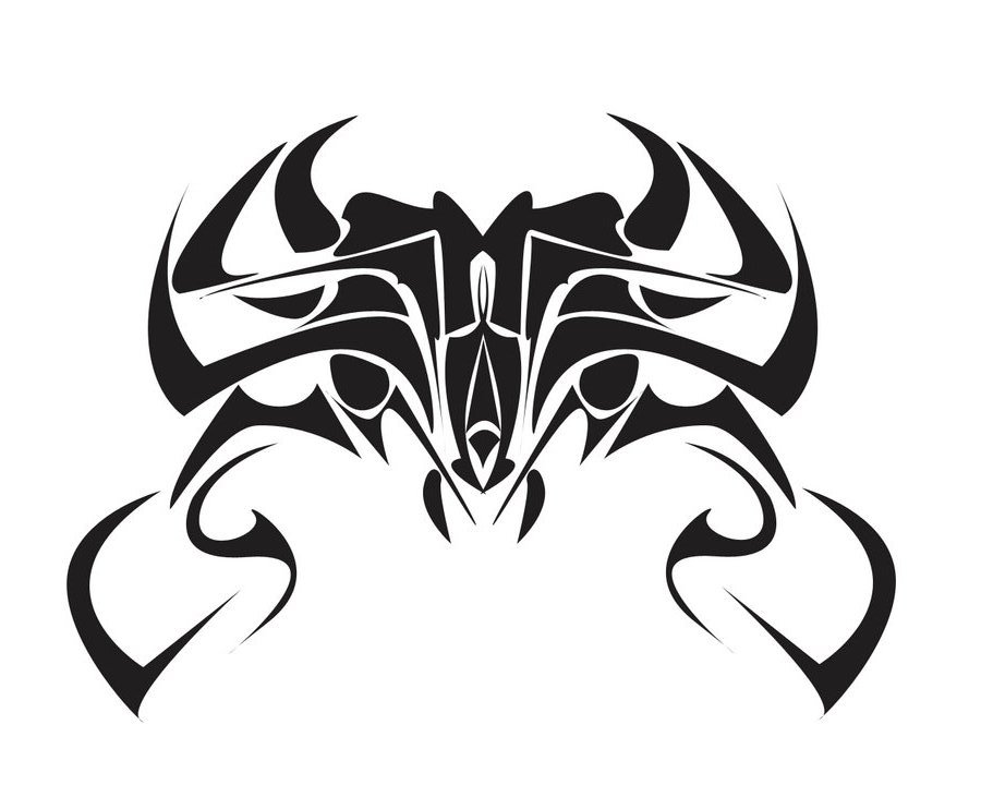 tribal crab tattoo free printable flash tattoo. Black Bedroom Furniture Sets. Home Design Ideas