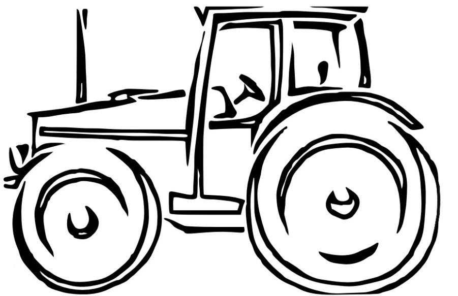 Kubota Tractor Black And White : Tractor images cartoon cliparts