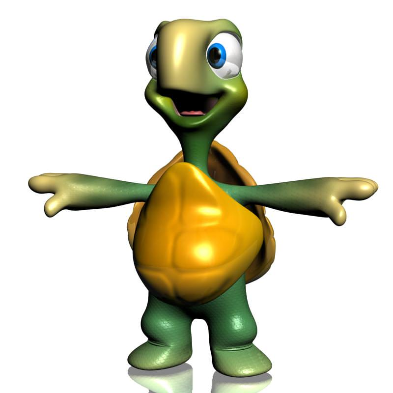 Cartoon Turtle Rigged 3D Model Game ready rigged .max .obj .3ds ...