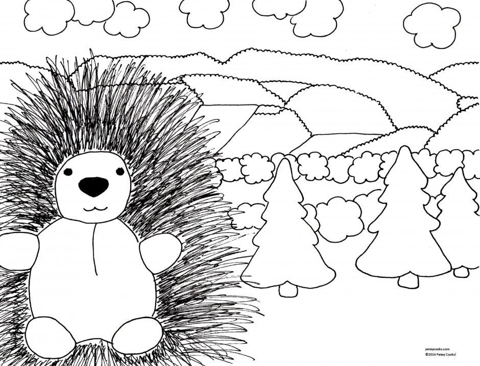 Porcupine coloring pages for Porcupine coloring page