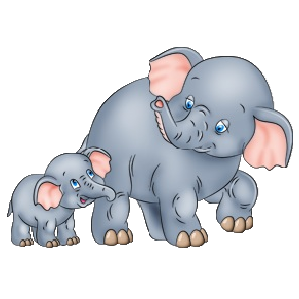 Mother Baby Elephant Stock Illustrations  518 Mother Baby