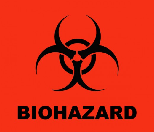 Slobbery image pertaining to biohazard sign printable