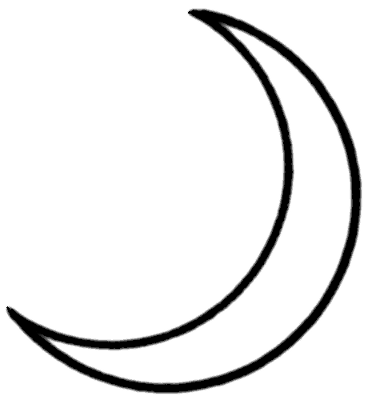 Crescent Moon Clipart Cliparts Co Crescent Moon Coloring Page