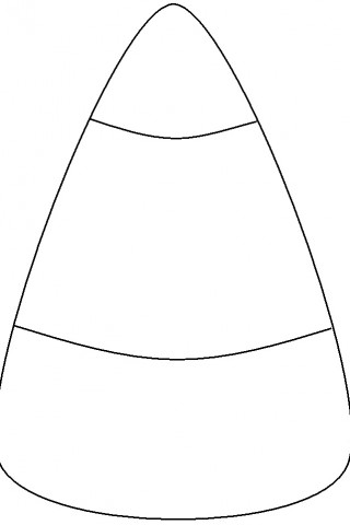 Candy corn coloring coloring pages for Candy corn coloring page