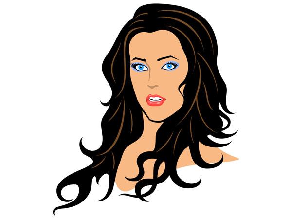 A Beautiful Cartoon Girl Face Beautiful Woman Clip Art