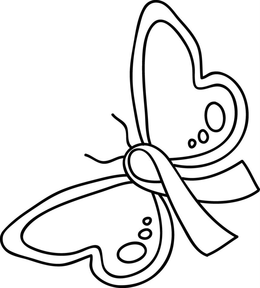 Free Coloring Pages Of Cancer Ribbon Ribbon Coloring Page