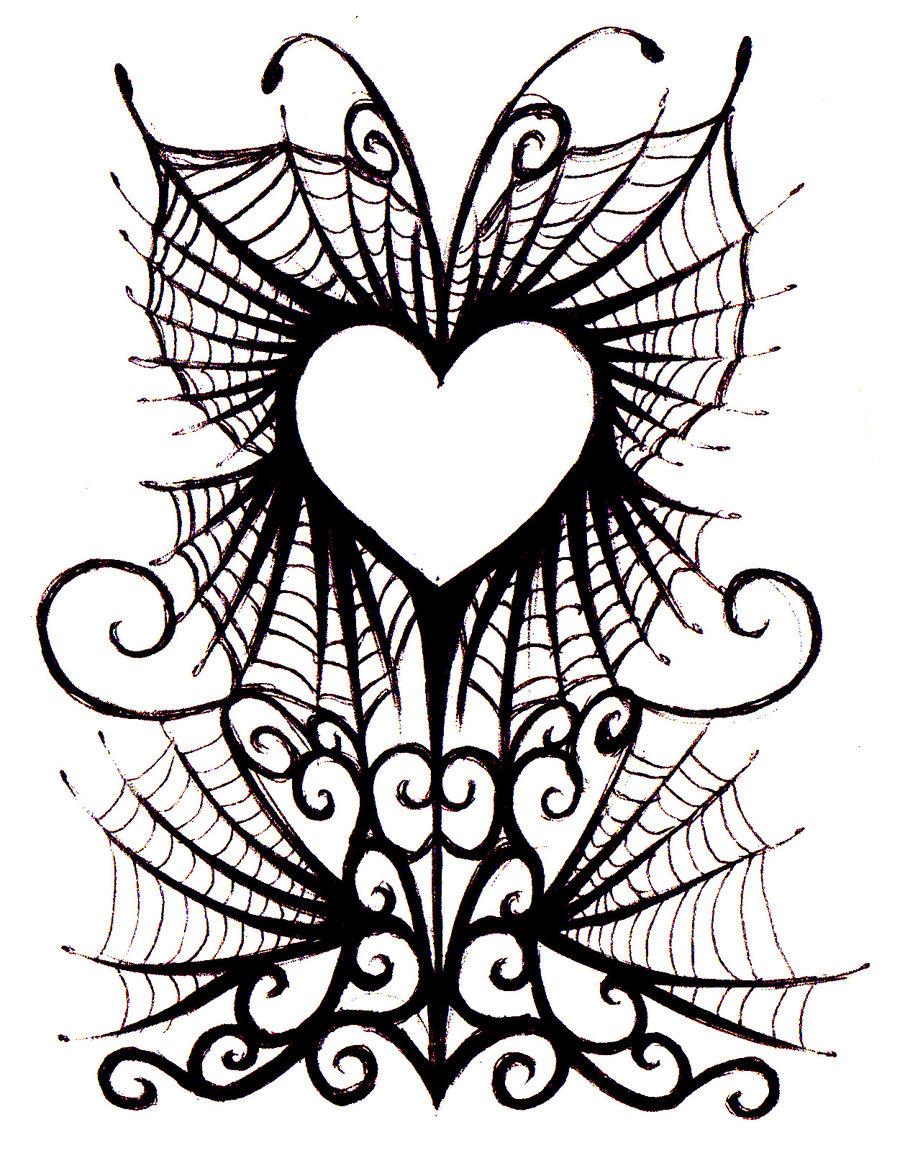 Gothic heart design