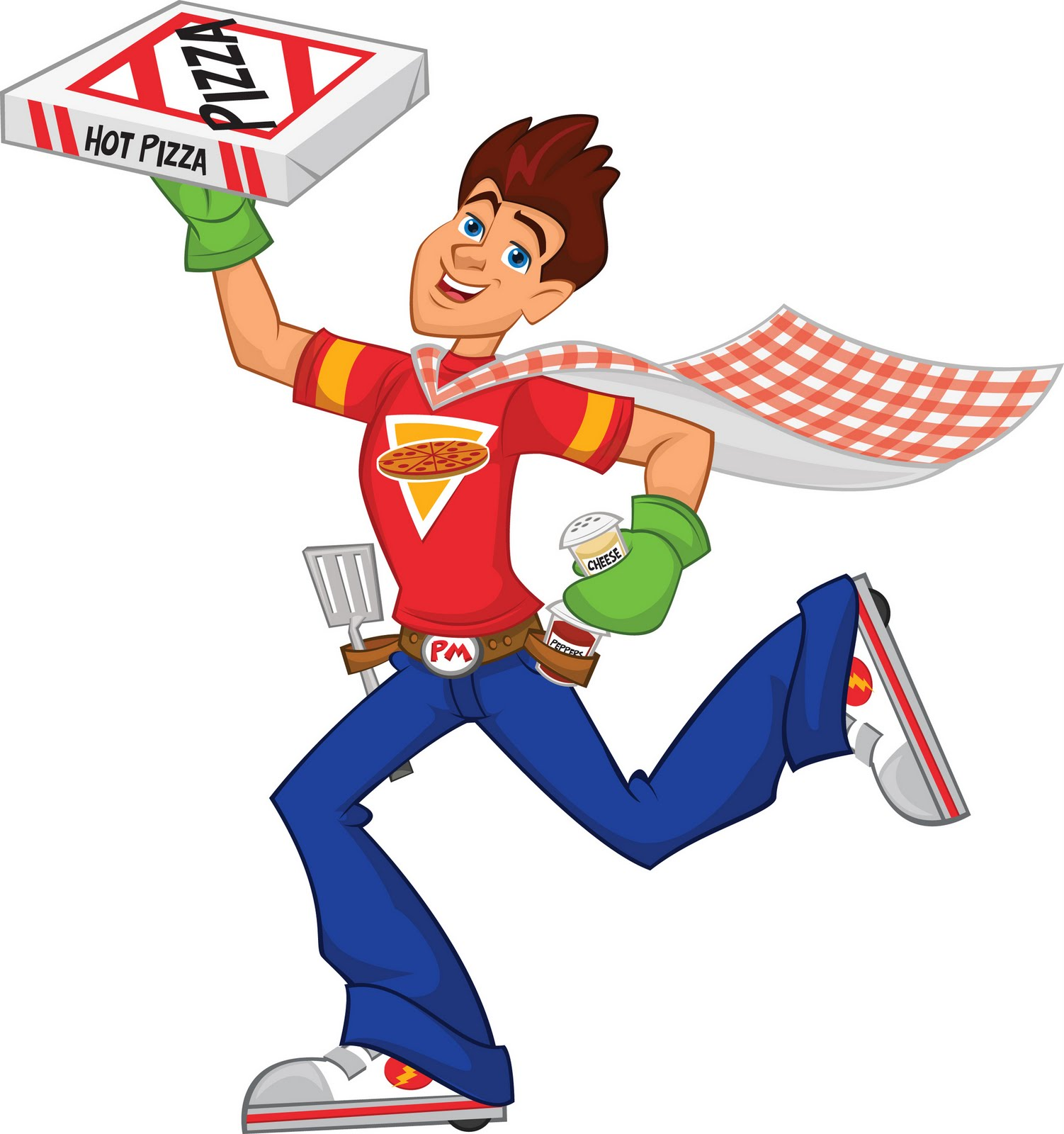 Images For > Cartoon Pizza Delivery Man