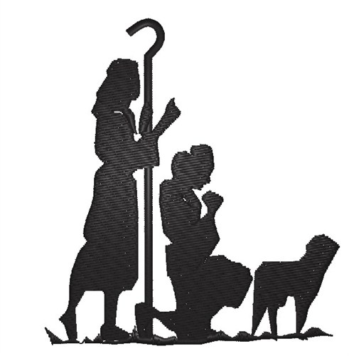 Template For Plywood Nativity Silhouette - NextInvitation Templates