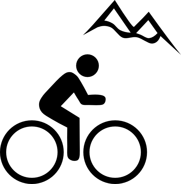 Bike Mountain clip art - vector clip art online, royalty free ...