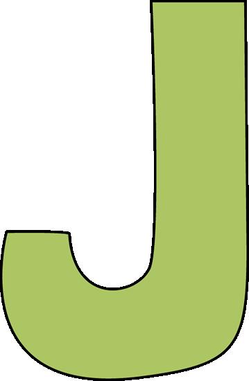 Green Letter J Clip Art   Green Letter J Image   Cliparts.co