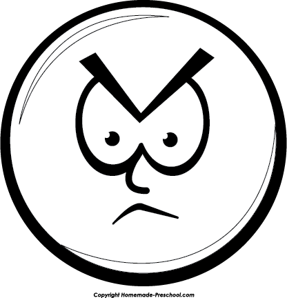 Mad Faces Clip Art Cliparts Co Clipart Coloring Pages Smiley