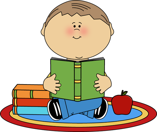 Boy Reading School Book Clip Art - Boy Reading School Book Image