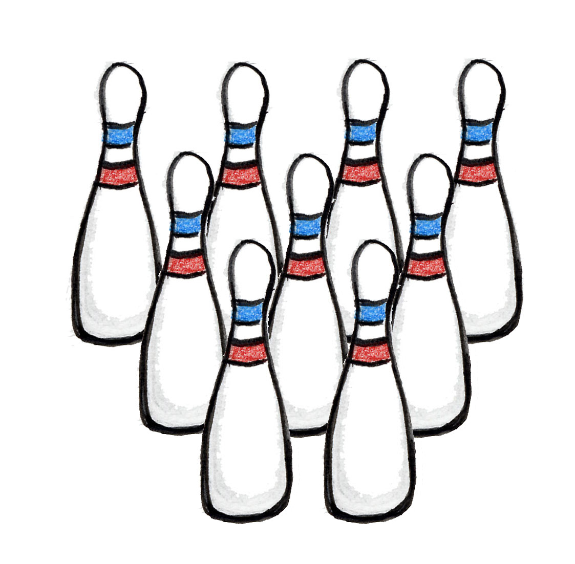 Bowling Pins Template - ClipArt Best